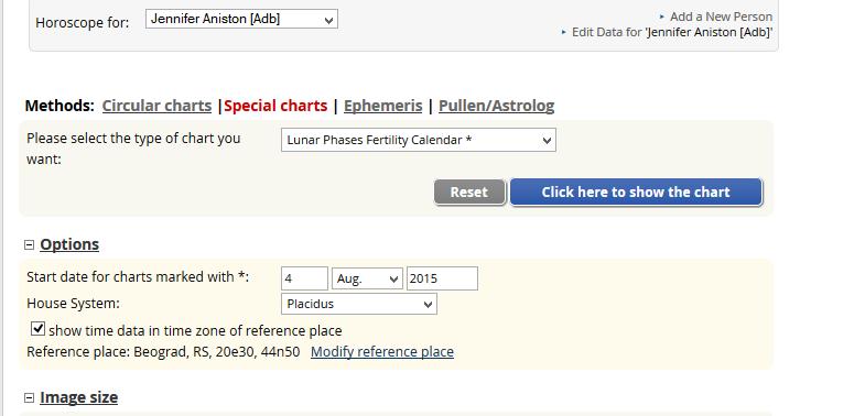 astrološki lunarni kalendar